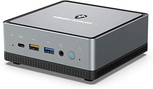 Mini PC AMD Ryzen 5 PRO 2500U | 16 GB RAM 256 GB M.2 SSD | Radeon Vega 8 Graphics | Windows 10 Pro | Intel WiFi AX200 -BT 5.1 | 4K HDMI 2.0, Display/USB-C |2X RJ45| 4X USB 3.1|Small Form Factor
