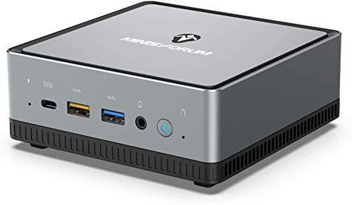 Mini PC AMD Ryzen 5 PRO 2500U | 16 GB RAM 256 GB M.2 SSD | Radeon Vega 8 Graphics | Windows 10 Pro | Intel WIFI6 AX200 -BT 5.1 | 4K HDMI 2.0 / Display/USB-C |2X RJ45| 4X USB 3.1|Small Form Factor