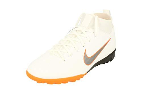 NIKE Junior SuperflyX 6 Academy GS TF Football Boots AH7344 Soccer Cleats (UK 5.5 us 6Y EU 38.5, White Metallic Cool Grey 107)