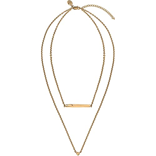 Joya Breil colección B Essential, collar de mujer de acero de color dorado, medida 45 cm con bisutería Crystal - TJ3010
