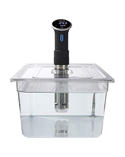Recipiente de policarbonato de 20 litros con tapa de corte personalizado para adaptarse a la cocina Anova Sous Vide