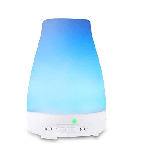 Humificador de aromaterapia. Difusor de aceites esenciales, purificador de ambiente, capacitad 100ML, 7 Luces LED, Silencioso, Modo...