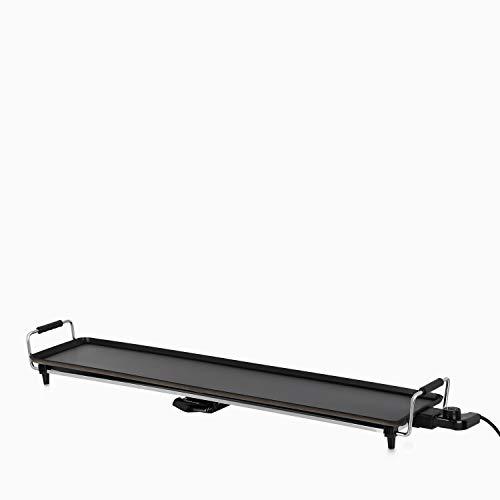 IKOHS TEPPANYAKI TP-XL – Piastra grill in stile giapponese, elettrica, con superficie di cottura uniforme, 100 x 22 x 13 cm, antiaderente, con termostato e vaschetta raccogli grassi, da 1800 W
