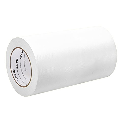 3M 3903 Vinyl Duct Tape Roll - 25 in. x 150 ft. White, Rubber Adhesive Tape with Moisture, Chemical Resistant, Embossed Vinyl Backing. Industrial Sealants