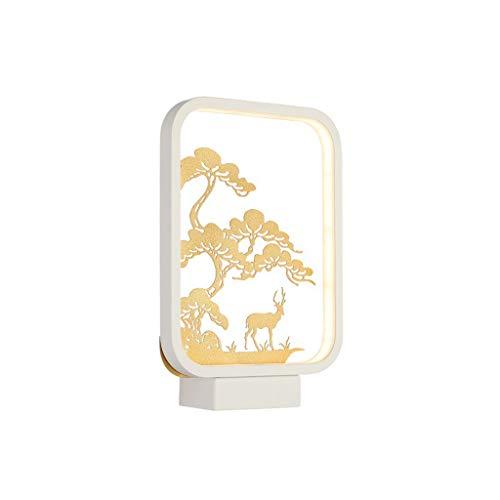 ZTCWS Modelo Cuadrado Moderna lámpara de Pared LED de Pared de luz, Blanco - Metal/Adecuado para la cabecera de la Sala de Pasillo Fondo de la Pared,Warm White Light