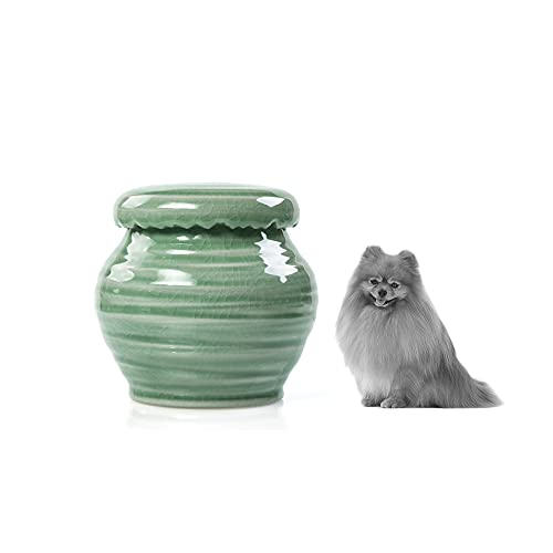 Urna de cerámica hecha a mano para perros pequeños, gatos, conejos, puente del arco iris, cremación funeraria, urna de entierro de cenizas, caja de memoria conmemorativa para siempre