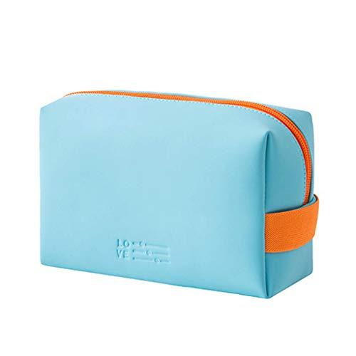 RK-HYTQWR Multifunktionale Reise-Kosmetiktasche Make-up-Tasche Tasche Toilettenartikel Zip Wash Organize, Hellblaue Kosmetiktasche, Hellblau