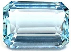 GemsNY supreme GIA Certified 13.32 Carat Emerald Cut Indianapolis Mall Natural Aquamarine