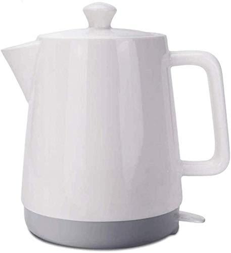 Hervidor eléctrico de cerámica 1 5L inalámbrico hervidor tradicional de cuerpo blanco gris parte inferior hervir agua rápido para té, café, sopa de avena y accesorios de cocina