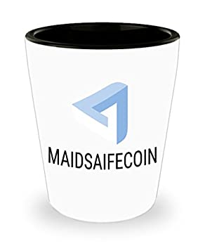 Official MaidSafeCoin Cryptocurrency Bar Drinking 1.5oz Shot Glass Crypto Miner Blockchain Invest Trade Buy Sell Hold MAID