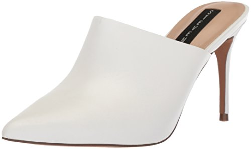 STEVEN by Steve Madden Women's Craft Mule, White Leather, 7.5 M US