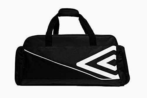 UMBRO Pro Training Sporttasche, Unisex, Pro Training Holdall, schwarz/weiß