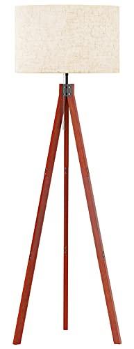 SUNMORY Wood Tripod Floor Lamp, Mid...