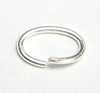 925 Jewellery Findings Oval Open Jump Rings Sterling Silver
