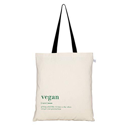 Eco Right Grande canvas bolsa tela para la compra, bolsos mujer bandolera, bolsa de viaje, Playa, Viajes Uso bolsos mujer, bolsa regalo para alumnos | Vegano