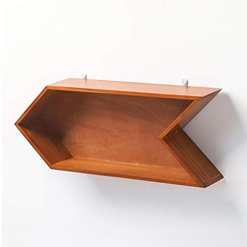 YYK Home plank in pijlvorm, slaapkamerrek van hout, drijvend