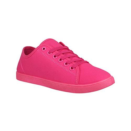 Elara Damen Sneaker Basic Chunkyrayan CL33319 Fuchsia-39