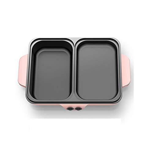 SKREOJF Función Dormitorio Mini Hot Pot Multi Grill eléctrico Asar y hervir...
