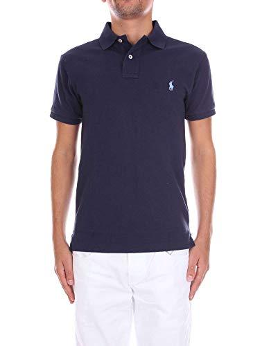 Polo Ralph Lauren Herren SS Slim FIT MESH Poloshirt, Blau (Newport Navy Xwgkj), XX-Large