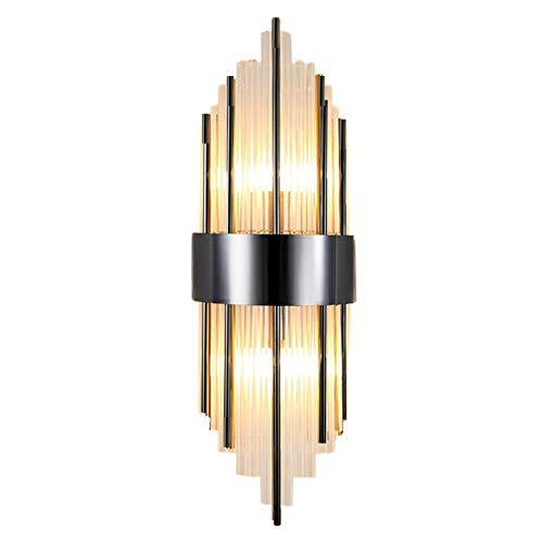 Pevfeciy Cristal Lampe Mural,Applique Art Deco, Art Deco Métal Bar Loft Luminaires Intérieur Couloirs Salon Salle à Manger Coucher Hotel Restaurant Couloirs Balcon,C