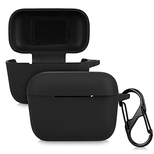 kwmobile Schutzhülle kompatibel mit Sennheiser CX400TW1C - Hülle Kopfhörer - Silikon Hülle Cover Schwarz