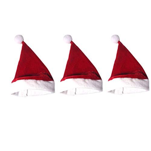 Sharplace Sombrero de Papá Noel de Navidad de 3 Piezas para Accesorios de Muñecas 1/6