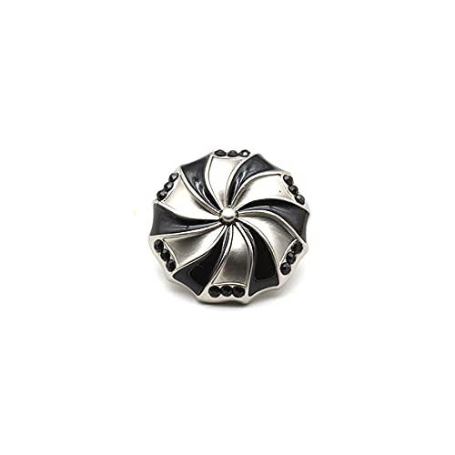 Botón de metal para decoración de costura Snap solo agujero botón robusto metal Craft botón traje botones
