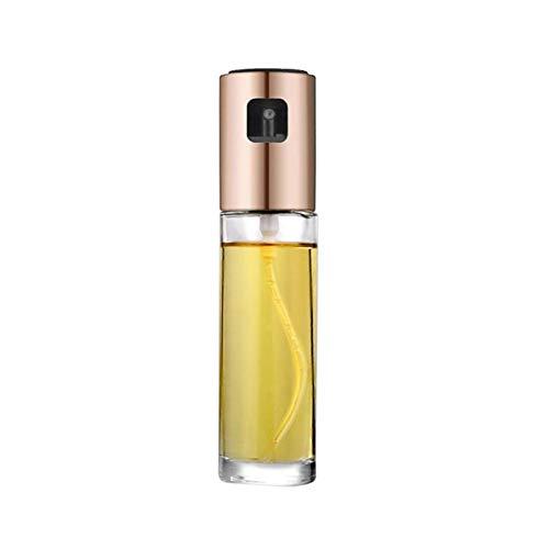 Pulverizador de aceite de oliva portátil Pulverizador de aceite de acero inoxidable Spray dispensador de aceite para cocinar ensalada cocina herramientas de cocina (Color : Rose Gold)