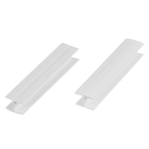HOLZBRINK Verbinder Sockelblende Sockelleiste für Einbauküche 150mm Höhe WEISS Hochglanz - HBK15