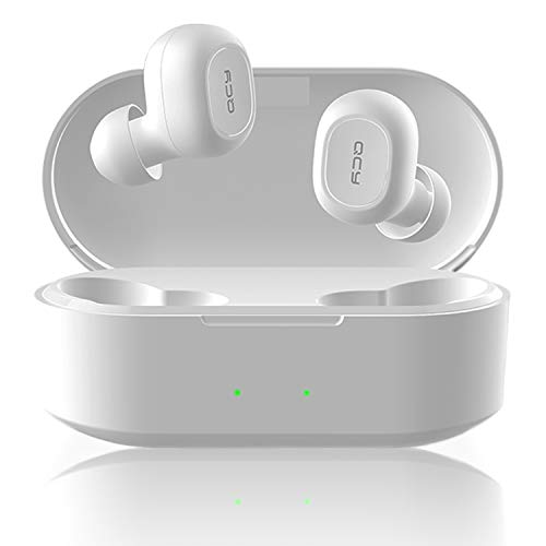 【2019最新版 ワイヤレス充電 】QCY T2 ワイヤレスイヤホン Hi-Fi 高音質 Bluetooth 5.0 自動ペアリング 完全ワイヤレス 左右分離型 ブルートゥース イヤホン bluetooth イヤホン マイク付き 両耳 片耳 通話 長時間 カナル型 防水 ワイヤレス ヘッドセット スマホ iPhone Android 対応 ホワイト QCY-T2SWH