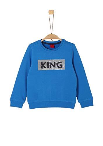 s.Oliver Jungen 64.909.41.8866 Sweatshirt, Blau (Blue 5545), 128 (Herstellergröße: 128/134/REG)