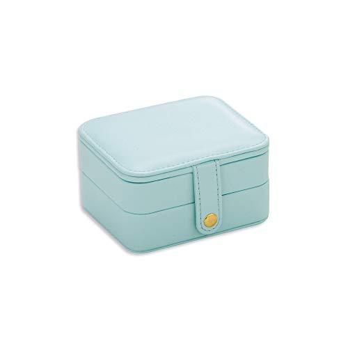 MINGZE Caja para Joyas - Caja de Joyas, Organizador de Joyas, Cajas de Joyería de Viaje para Mujer niña con Espejo, Dos Capas, Cuero de imitación Joyero de Cumpleaños Regalo