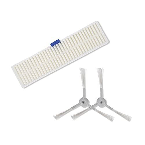 Rowenta ZR740002 - Set di 3 spazzole laterali e filtri originali per robot aspirapolvere Explorer 60
