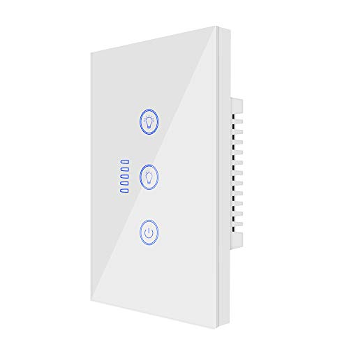 Interruptor de luz inteligente UseeLink, con control remoto y función de temporizador, compatible con Alexa/Google Home, no requiere concentrador (regulador)