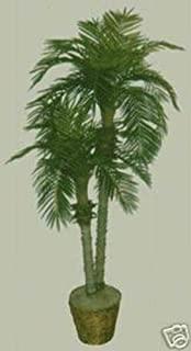 7' Artificial Phoenix x 2 Palm Tree in Basket Date Sago Areca Bamboo Pot Coconut
