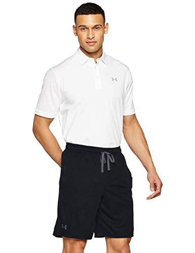 Under Armour Tech Mesh Pantalones Cortos de Hombre, Pantalones Deportivos Transpirables, cómodos y Anchos Pantalones Cortos con Bolsillos Laterales, Black/Pitch Gray (001), MD