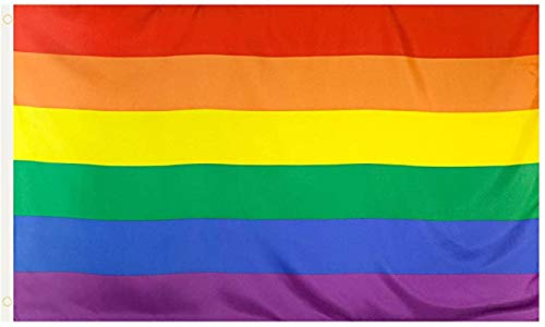 Rainbow Pride Flag LGBT 3x5 Ft Gay Lesbian LGBTQ Pride Flags UV/Fade Resistant for Indoor/Outdoor