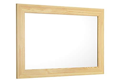 90.90-91 Spiegel Wandspiegel Garderobenspiegel Holz Rahmen 59x89 cm eckig Holzspiegel