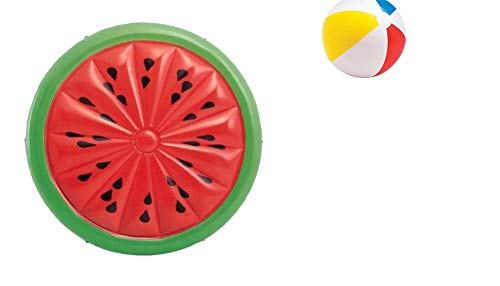Melone - Wassermelone - Watermelon - mit Seil - Pool-Insel Insel Badeinsel - Maße: ca 180 cm - Tragegewicht max. 160 kg