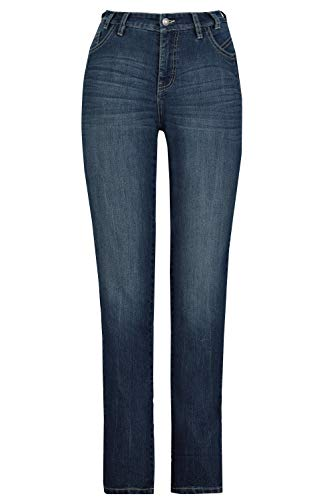 GINA LAURA Damen Jeans Julia, Saum-Zierband, schmale 5-Pocket-Form Blue Denim 42 728314 92-42