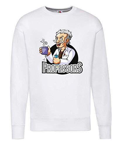 Pullover - Professor Chemiker Cartoon Verrückt - Sweatshirt für Herren und Männer