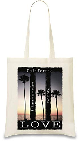 Kalifornien Liebe - California Love Custom Printed Tote Bag| 100% Soft Cotton| Natural Color & Eco-Friendly| Unique, Re-Usable & Stylish Handbag For Every Day Use| Custom Shoulder Bags By Josh God