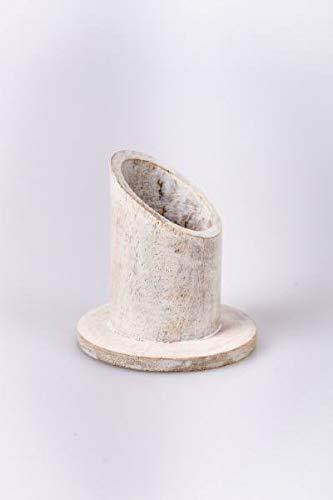 Kandelaar, Ø voor kaarsen 3 cm, Hout, natuur, ronde vorm