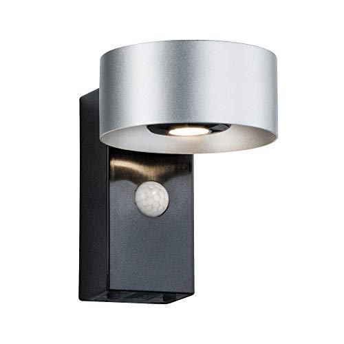 Paulmann 796.77 Outdoor House Cone mit Bewegungsmelder IP44 Warmweiß 2x6W Lichtaustritt Beidseitig 30-90°Ausstrahlwinkel 79677 Hausnummernleuchte Aussenleuchte Haustürleuchte
