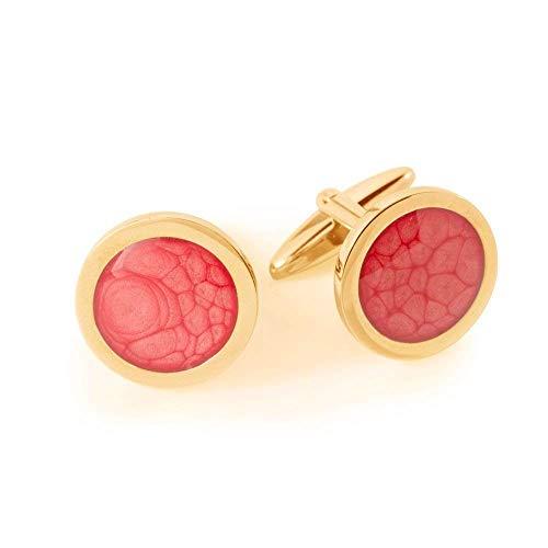Special Rot Vergoldet Manschettenknöpfe Geschenke für Herren; Cool Koralle Party Cufflinks for Man Dragon Porter; Durchmesser 1.8cm