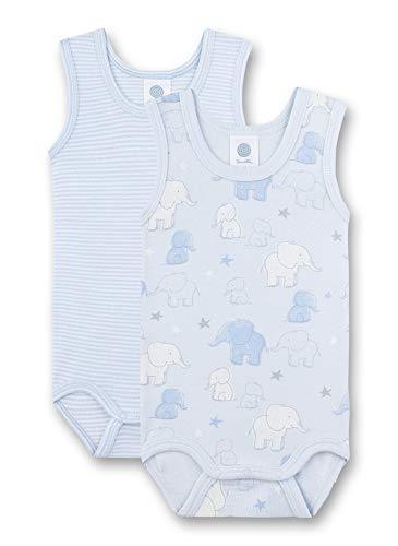 Sanetta Baby-Jungen Body Doppelpack Spieler, Blau (blau 50308), 86 (Herstellergröße:086)
