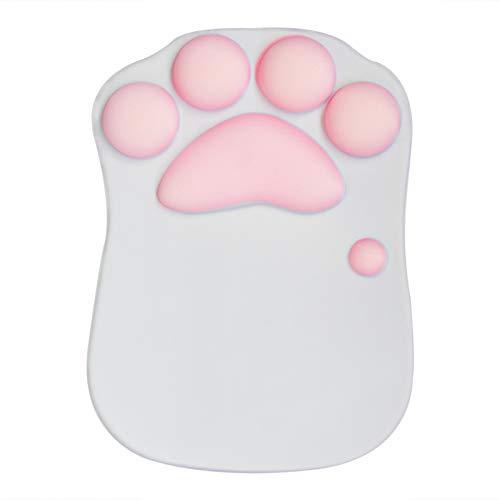Star-LINK Ergonomische Mauspad mit Handgelenkauflage, Cartoon Katze Mauspad mit Gelkissen Handgelenk Kissen Mouse Pad Office Komfort Gaming Mausmatte Dekor für Kinder Computer Laptop Zubehör Geschenk