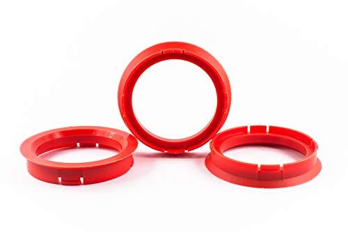 Zentrierringe Distanzringe Ringe 4 Stk 70,0mm auf 56,6mm Alufelgen Felgen Kunststoff