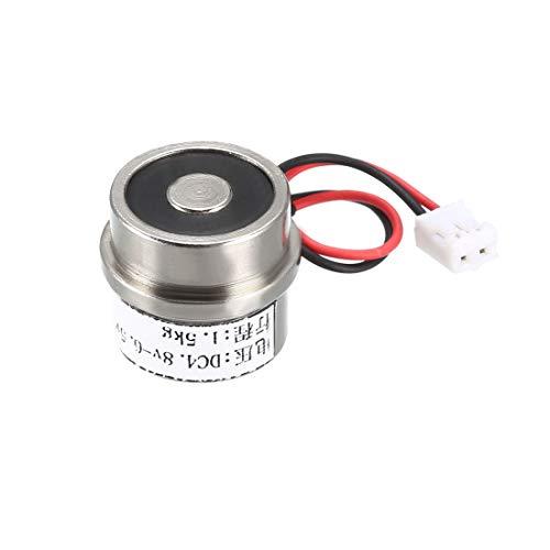 sourcing map Elektrischer Hubmagnet Elektromagnet Hubmagnet Halten 4.8V-6.5V DC 15N (Kein Magnet bei eingeschalteter Stromversorgung; Magnet bei ausgeschalteter Stromversorgung)