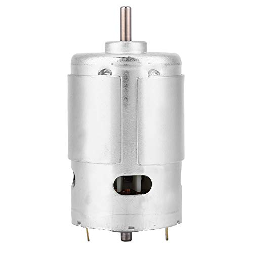 Motor, 12 V 6000 U/min Hochgeschwindigkeitsgeräuscharmes Hochleistungs-Miniatur-Doppelkugellager DC 895-Motor, Unterstützung für positive und negative Drehung, Verwendung in Miniaturmaschinen